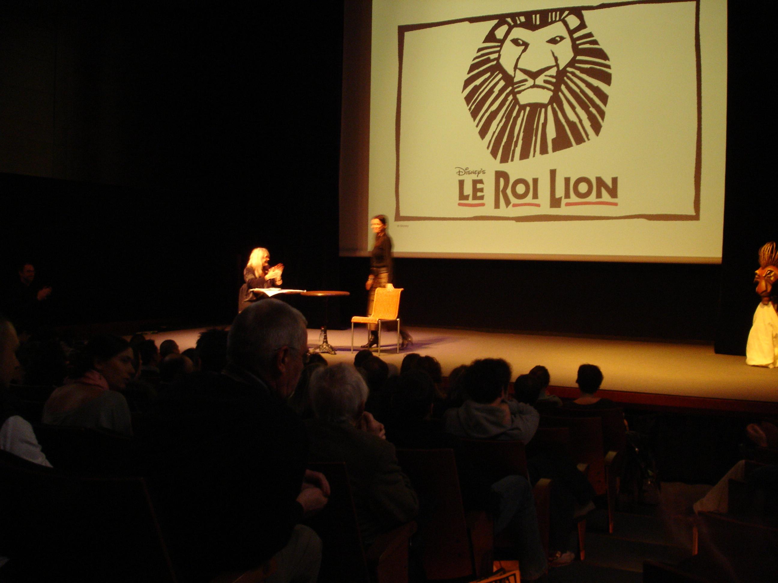 Julie Taymor - Conférence de presse du Roi Lion