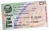 Le Roi Lion - ticket Johannesburg