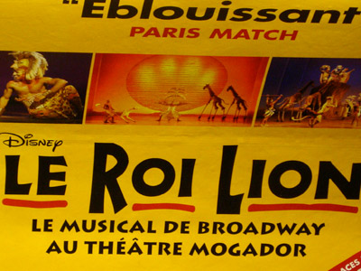 Le Roi Lion - Métro - janvier 2008