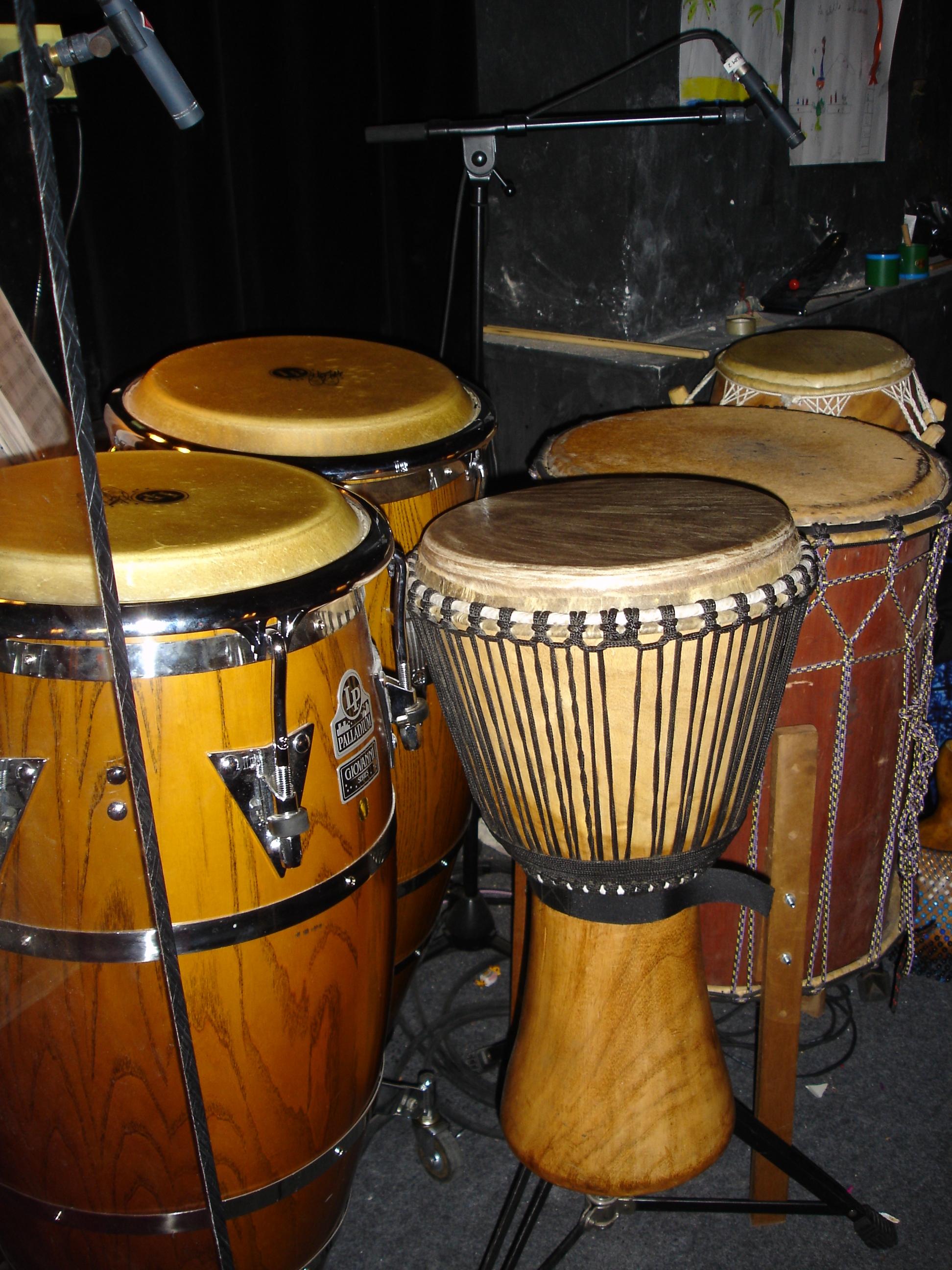 Les percussions - L'orchestre du Roi Lion