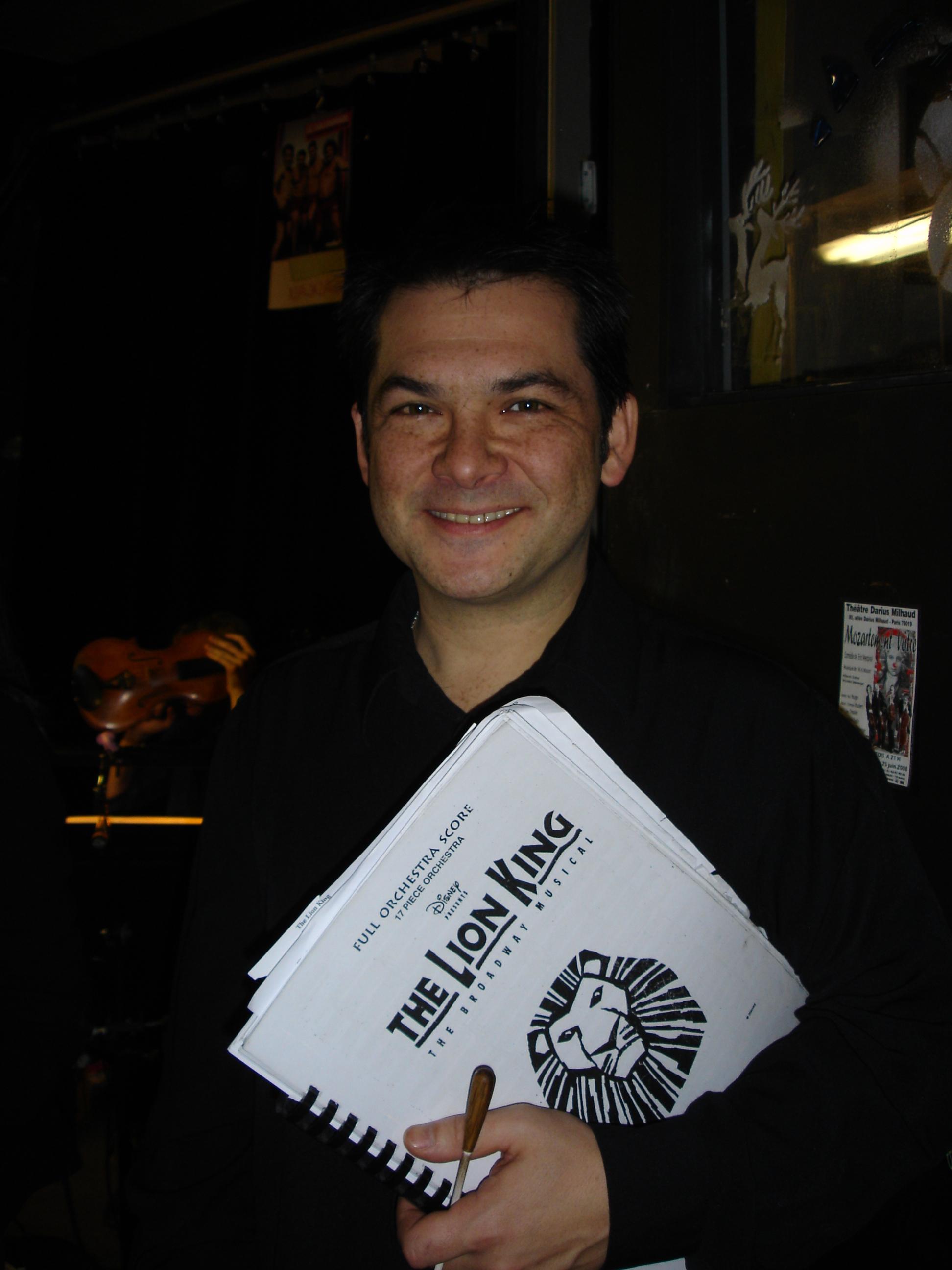 Le Directeur Musical - Raphaël Sanchez - L'orchestre du Roi Lion