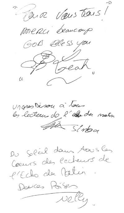 Le Roi Lion en mini-concert au Virgin Megastore - Les autographes du Rapport du Matin