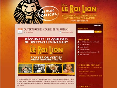 Le blog du Roi Lion