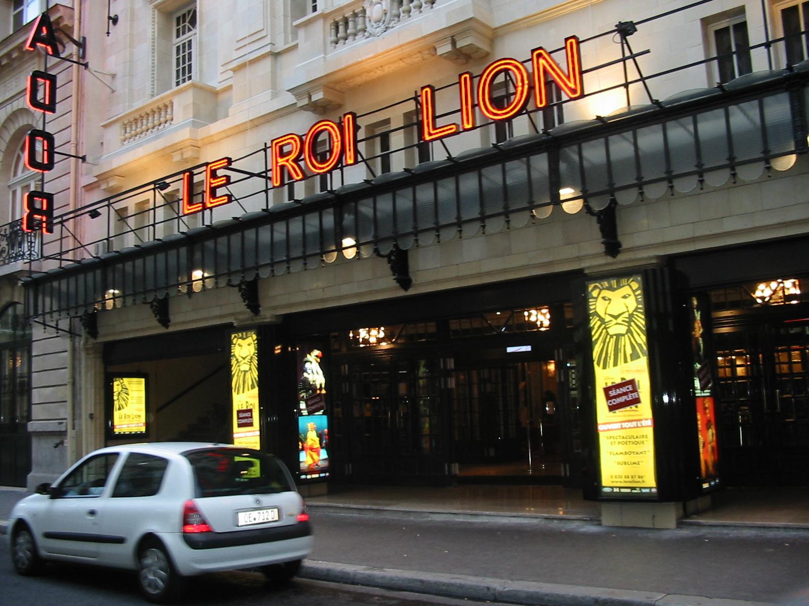 Le Roi Lion au Théâtre Mogador - 19 août 2008