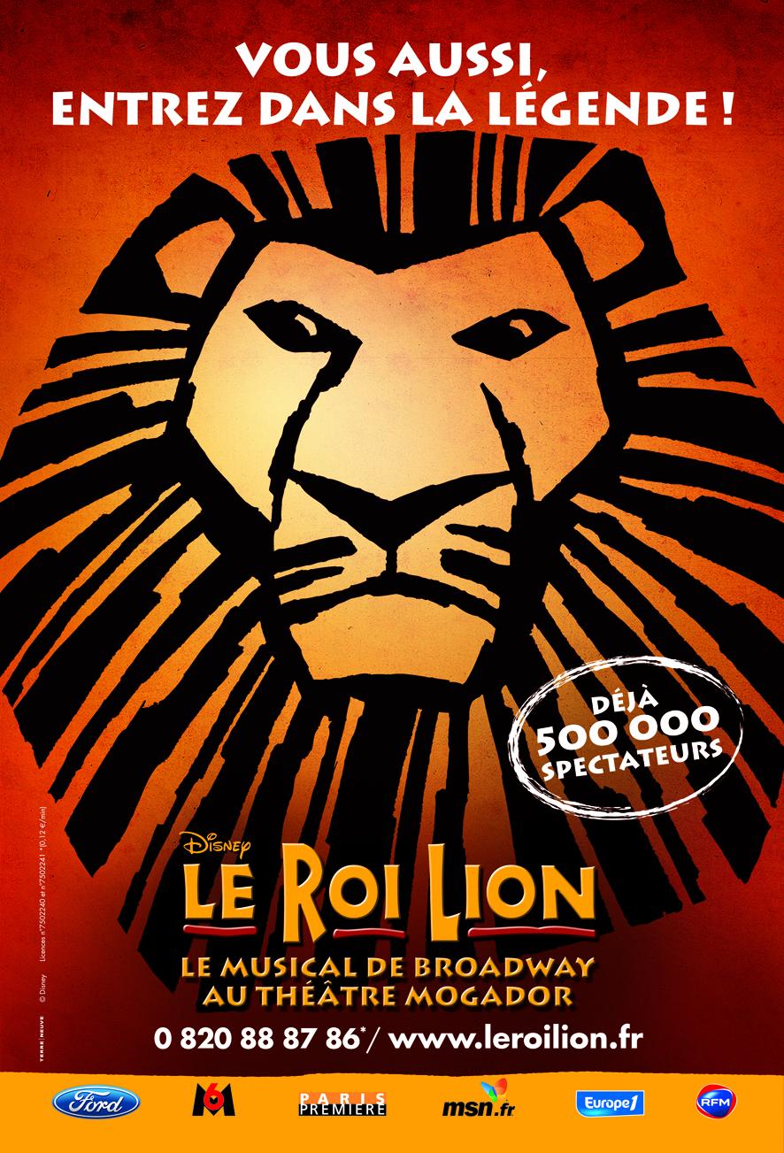 Affiche Le Roi Lion Septembre 2008