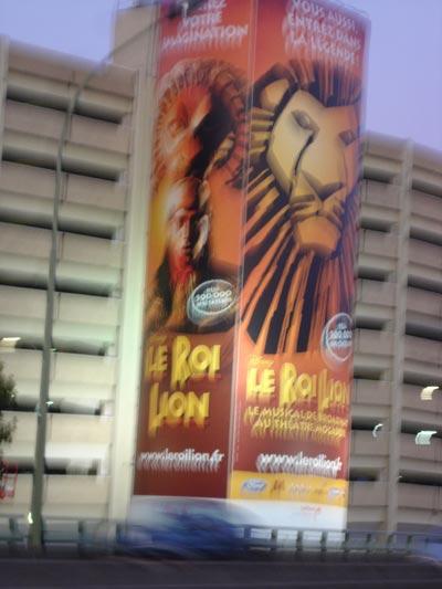 Le Roi Lion - Bâche sur le périphérique sud - septembre 2008