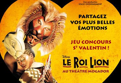 Jeu-concours Le Roi Lion St Valentin