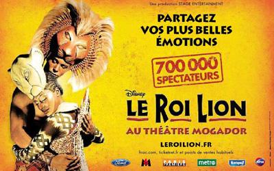 Publicité Le Roi Lion Février 2009