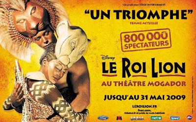 Publicité Le Roi Lion 2009