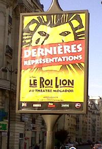 Le Roi Lion - Dernières représentations